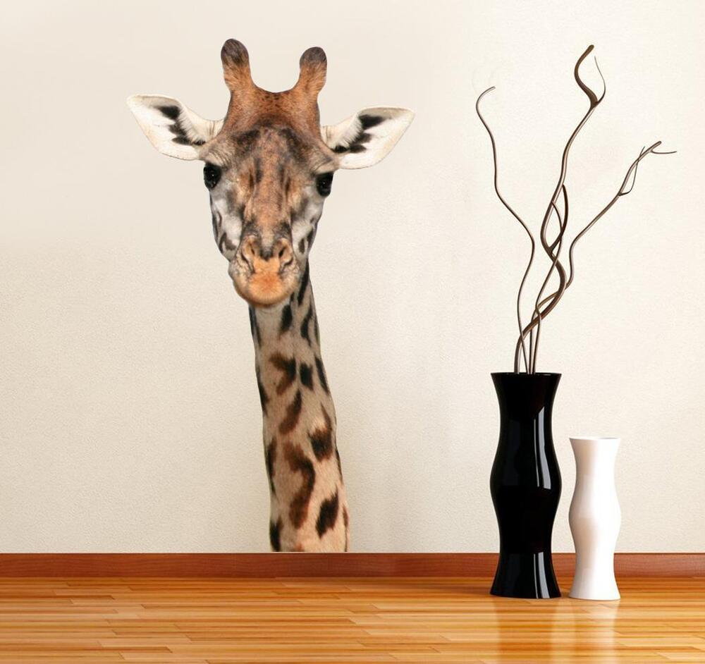 Giraffe Head Decal Removable Graphic Wall Sticker Home