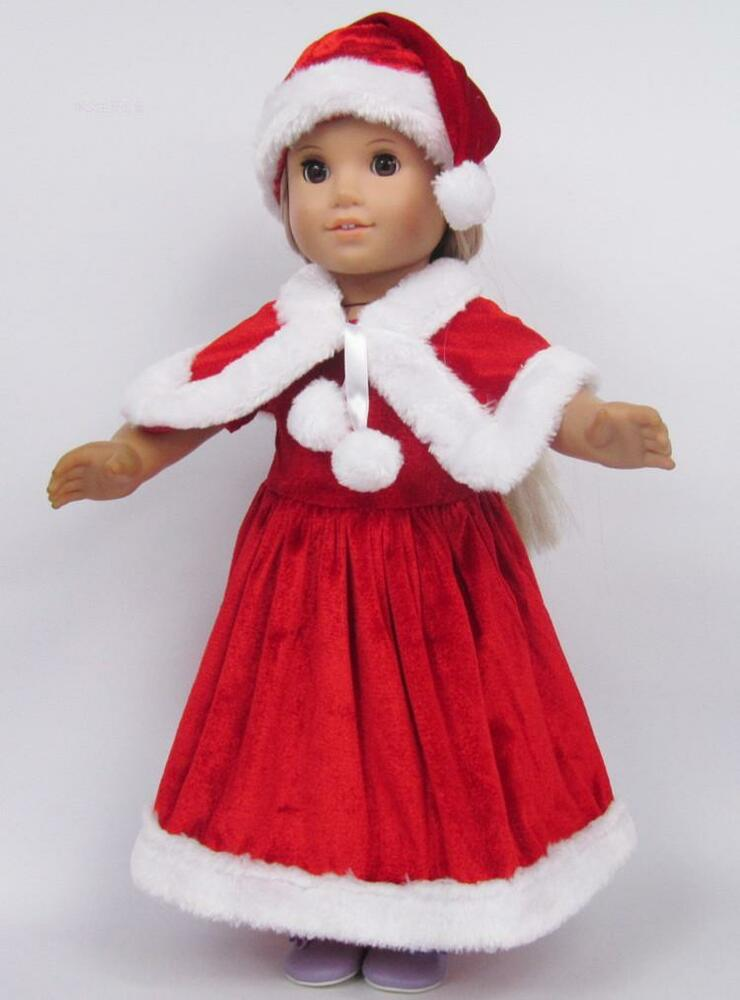 2015 Christmas clothes dress for 18inch American girl doll ...