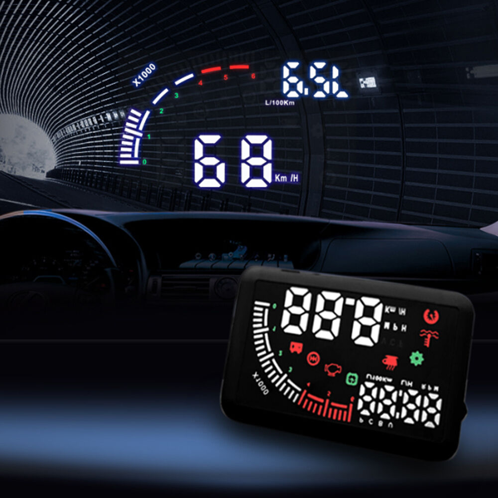 echoman em05 5 5 car dual obd hud head up display obd ii. Black Bedroom Furniture Sets. Home Design Ideas