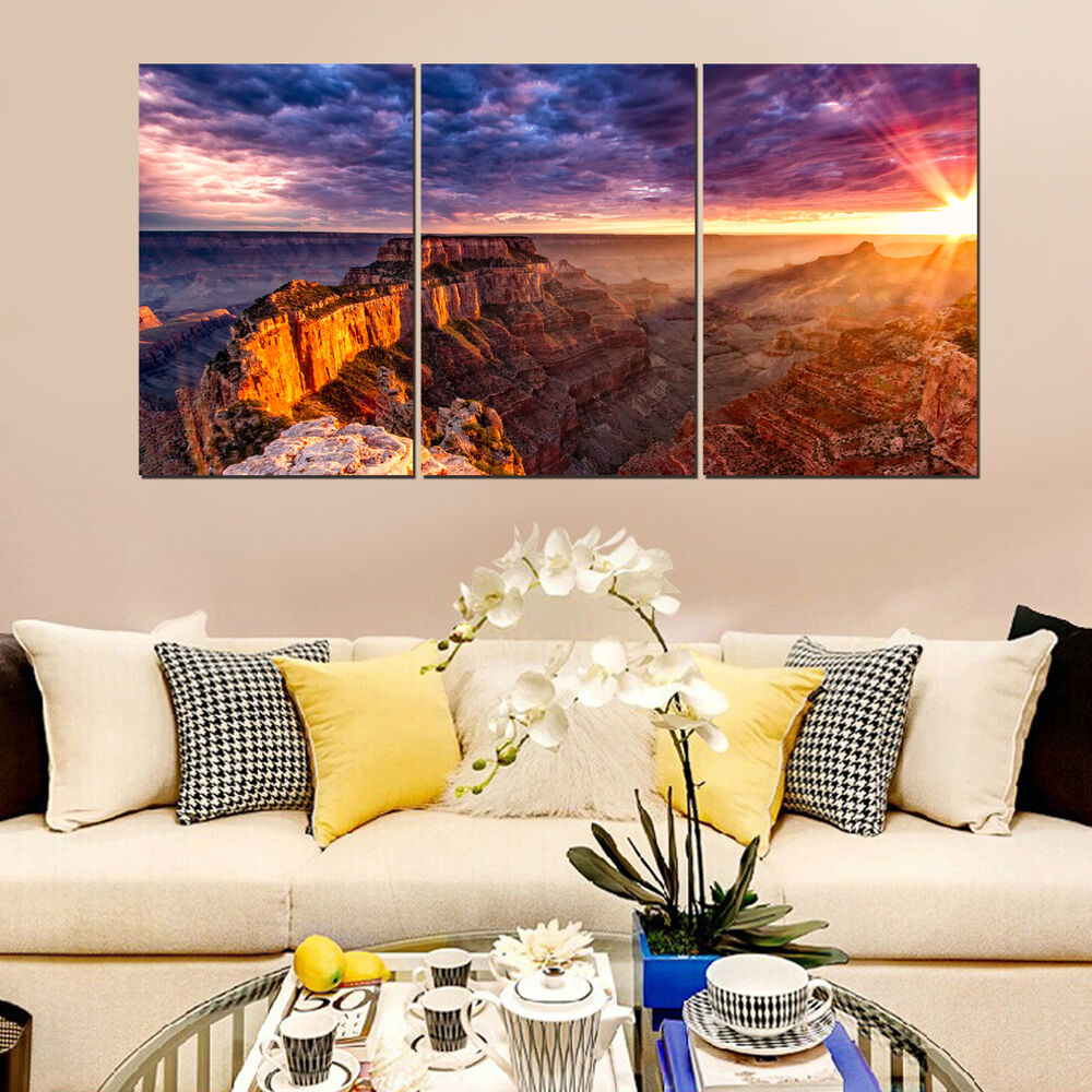 Large grand canyon canvas art unframed hd abstract canvas for Buy large canvas prints