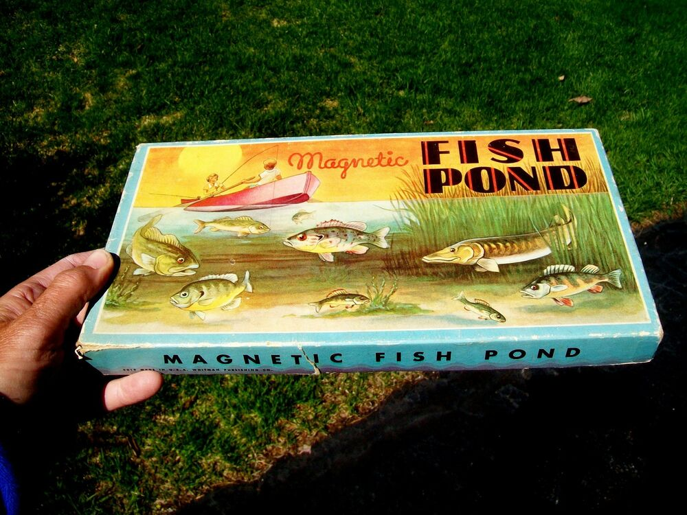 Old circa 1935 magnetic fish pond game whitman for Koi pond game online