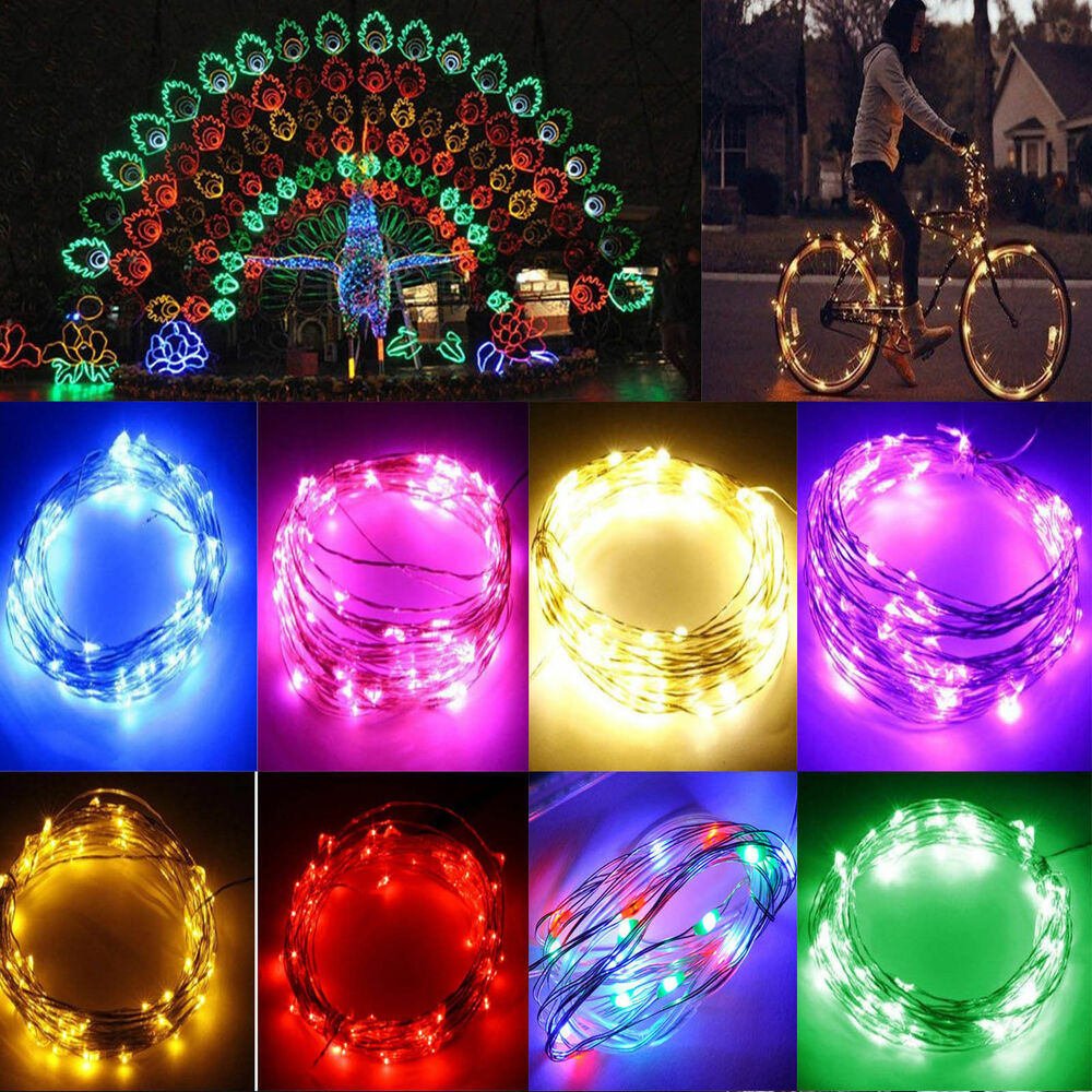 String Lights Wedding Diy : 2M String Fairy Light 20 LED Battery Operated Xmas Lights Party Wedding DIY eBay