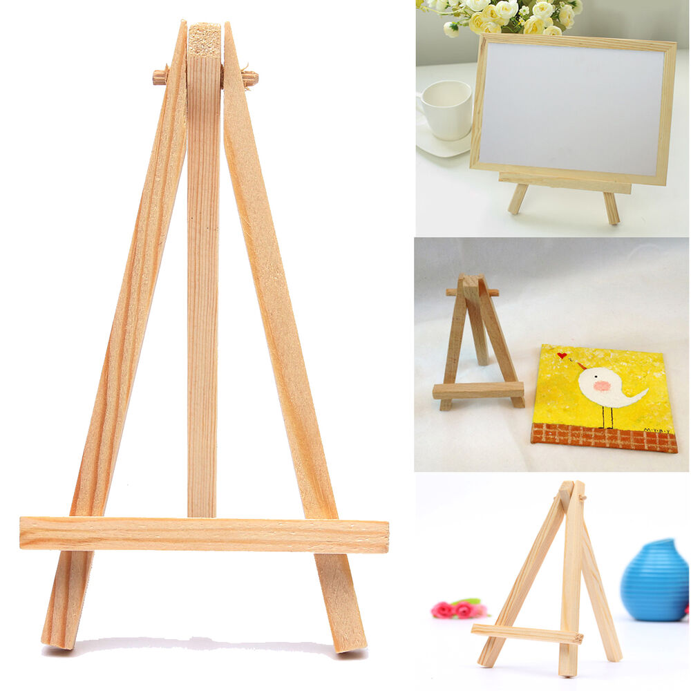 10pcs mini wooden cafe table number easel wedding place for Un stand