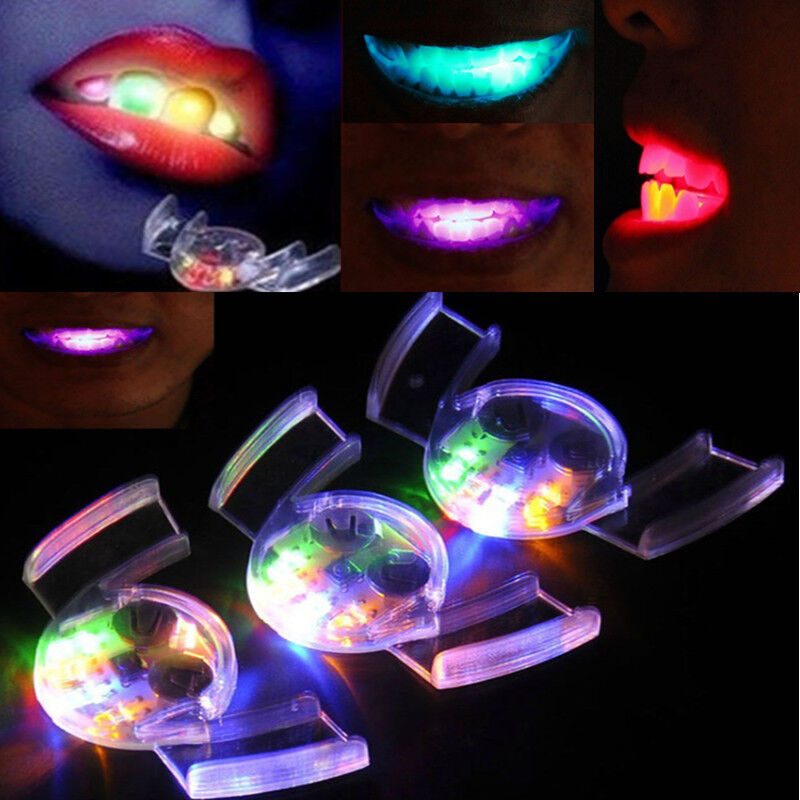 Part Shop Glow Tail Lights: LED Light Up Flashing Mouth Piece Glow Teeth Mouth Guard