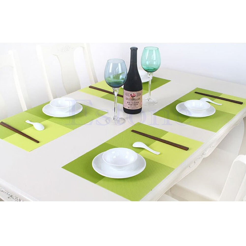 1pc pvc waterproof placemats insulation mat table coasters for Table placemats