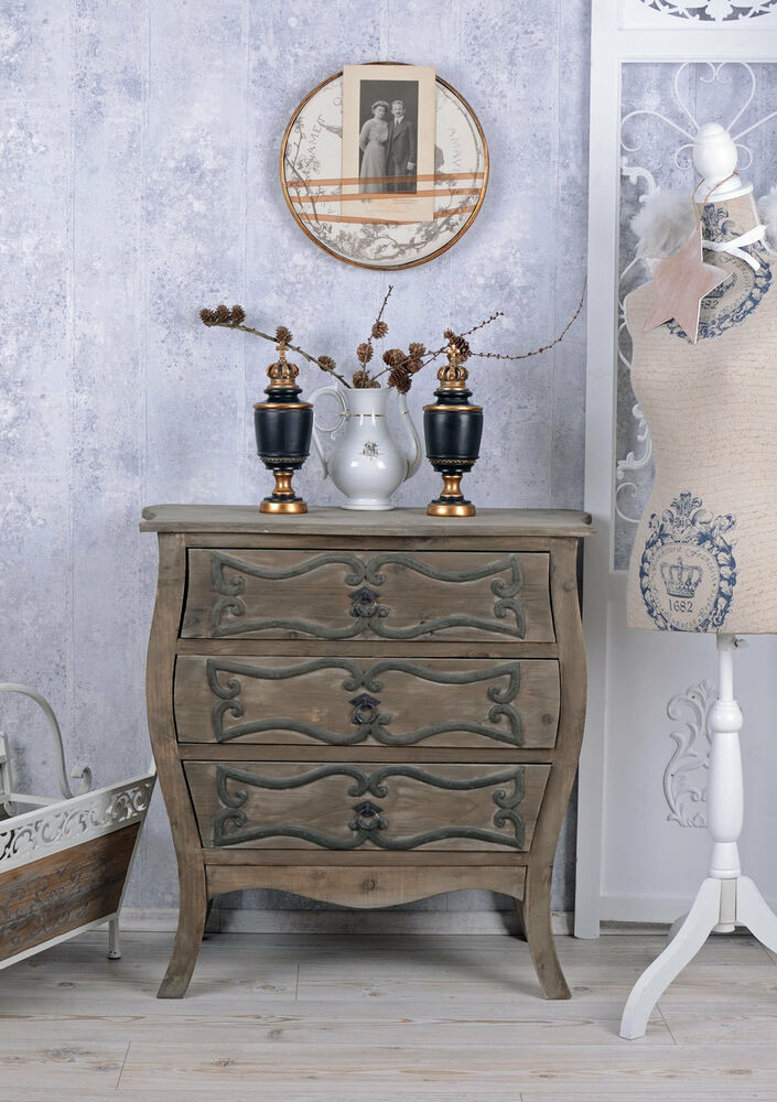 vintage kommode altes holz schubladenschrank shabby chic. Black Bedroom Furniture Sets. Home Design Ideas