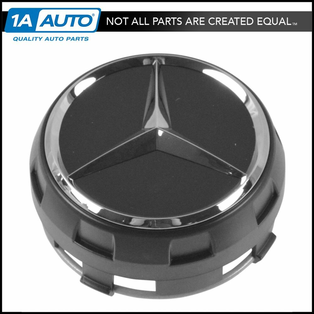 Oem 00040009009283 raised chrome black wheel center cap for Silver star mercedes benz parts