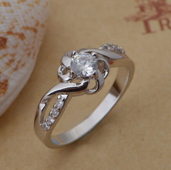sterling silver wedding ring 925 sterling silver engagement rings for women 7706