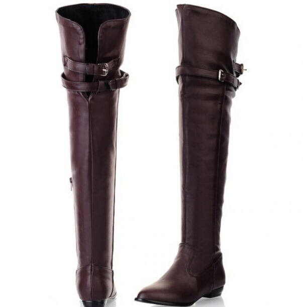 western womens buckles flats buckle side zipper boots