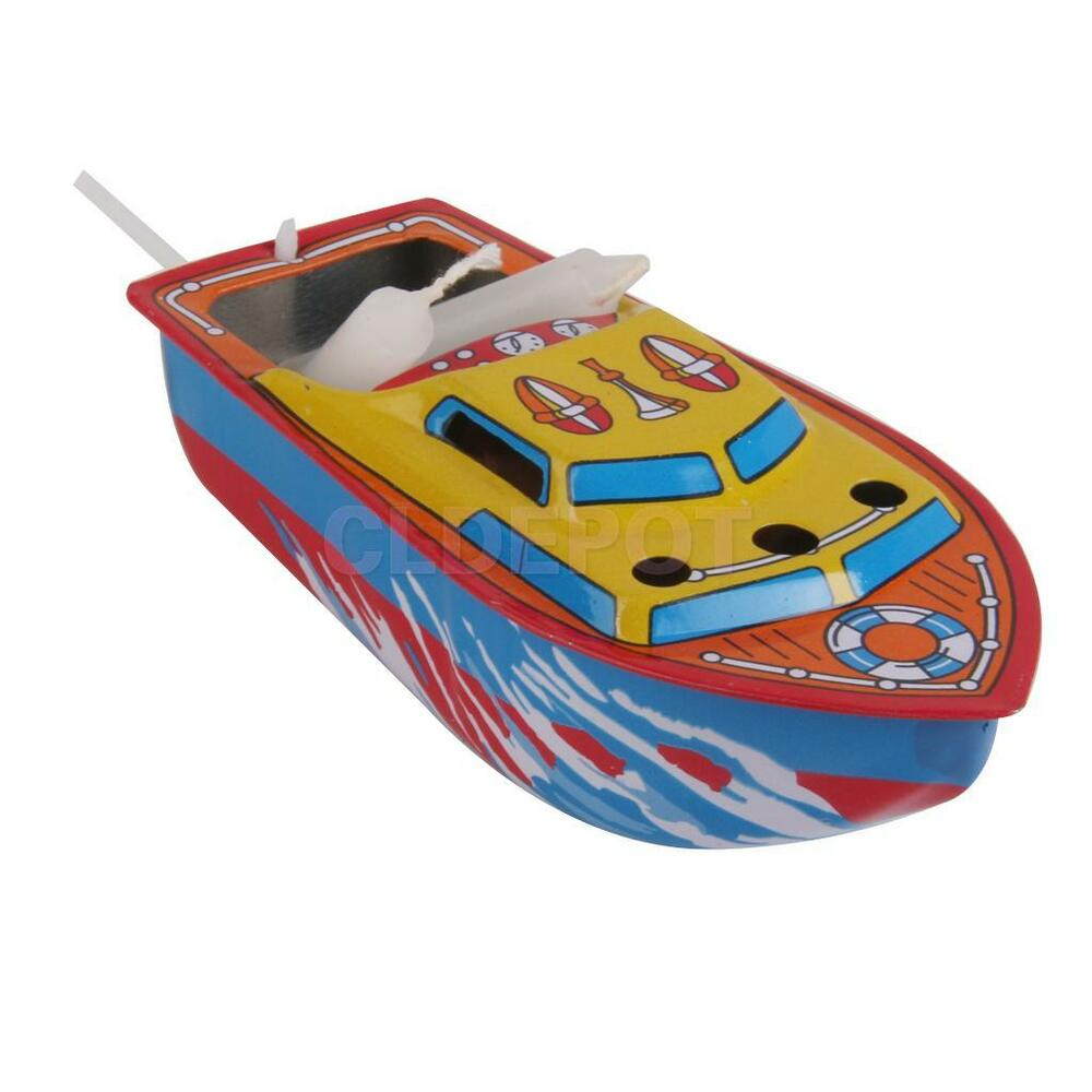 POP POP BOAT Tin Toy Floating Steam/Candle Powered ...
