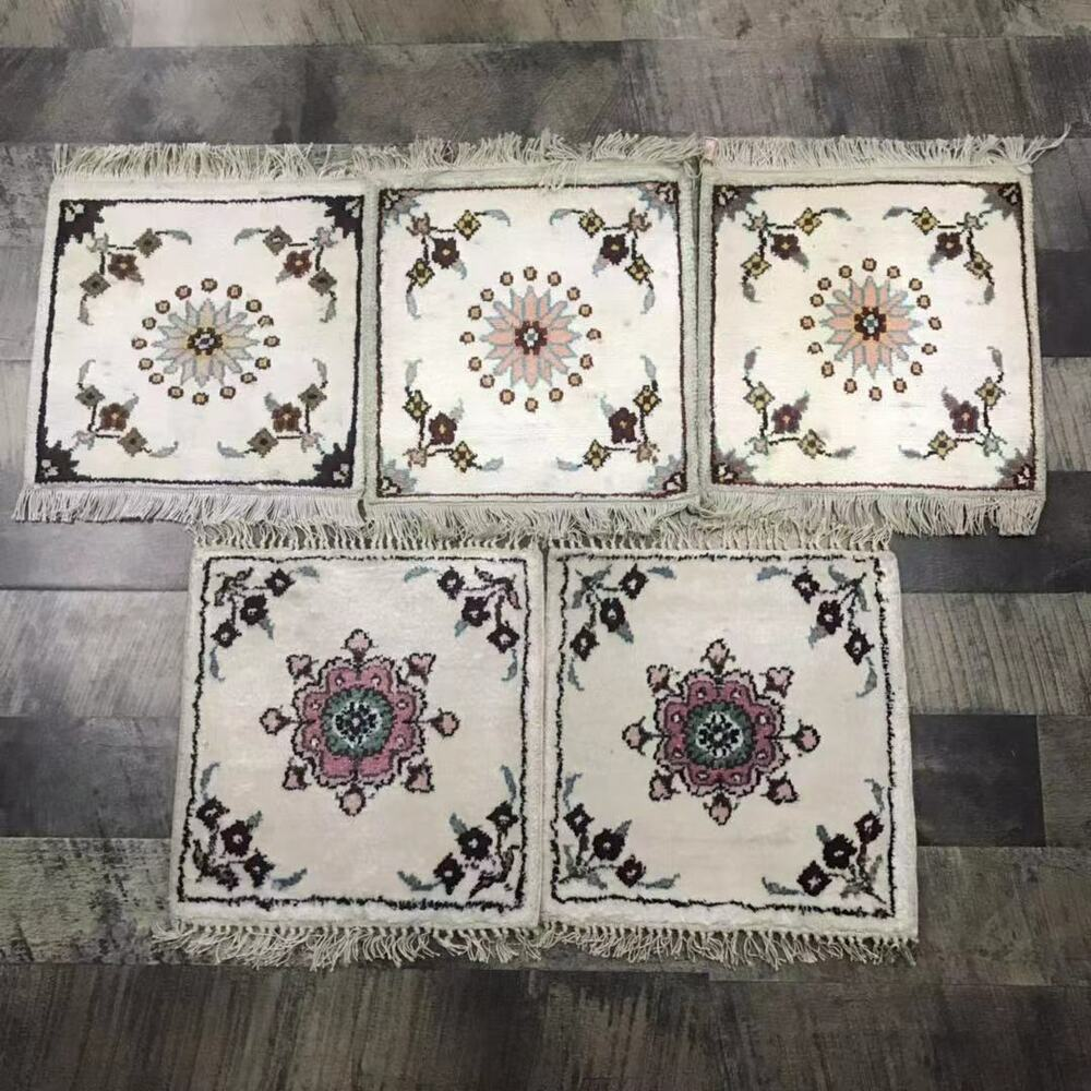 1x1 Oriental Hand Knotted Miniature Rugs Handmade Persian