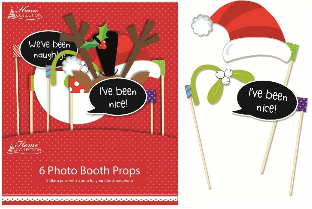 christmas party photo booth 6 selfie stick props for festive phone pictures xprp ebay. Black Bedroom Furniture Sets. Home Design Ideas