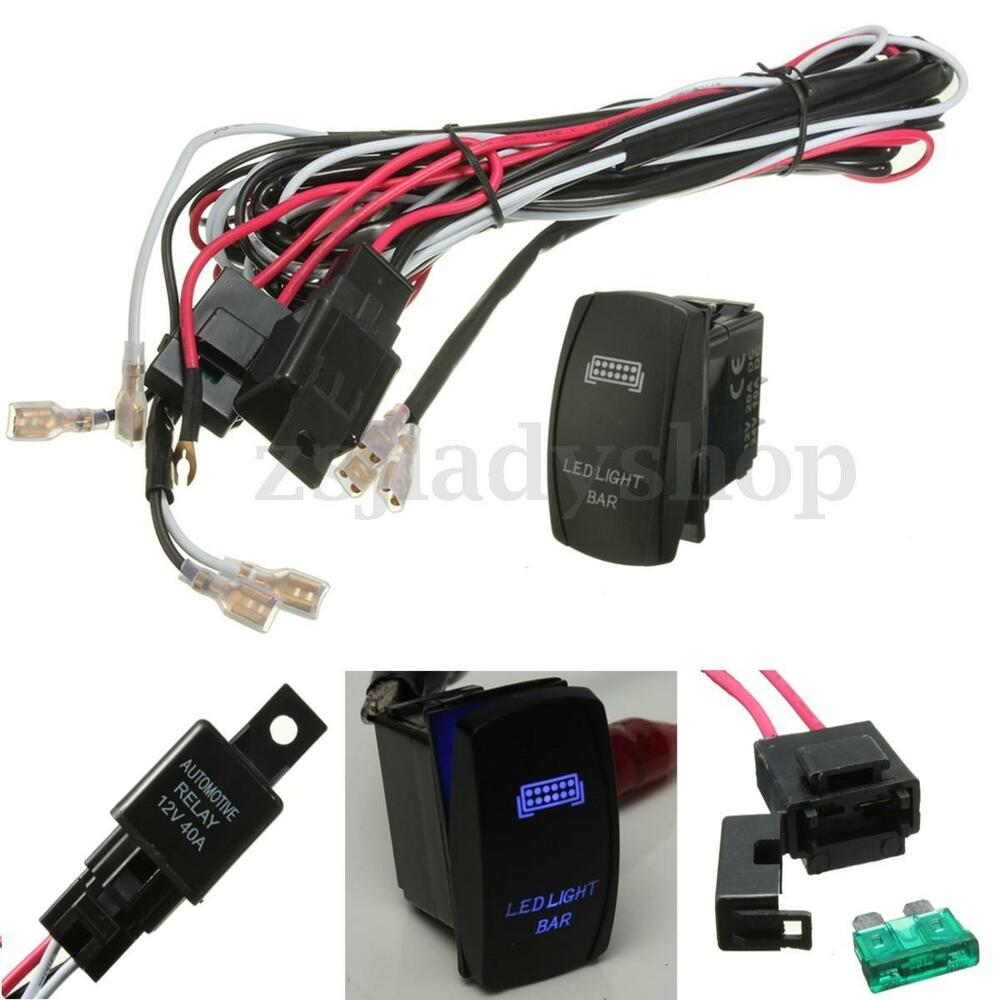 12v 40 amp off road atv/jeep led light bar wiring harness ... 250cc chinese atv wire harness