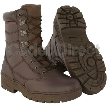 img-Delta Patrol Boot Full Leather, MOD Brown Army Boots (UK Size 7 to 13)
