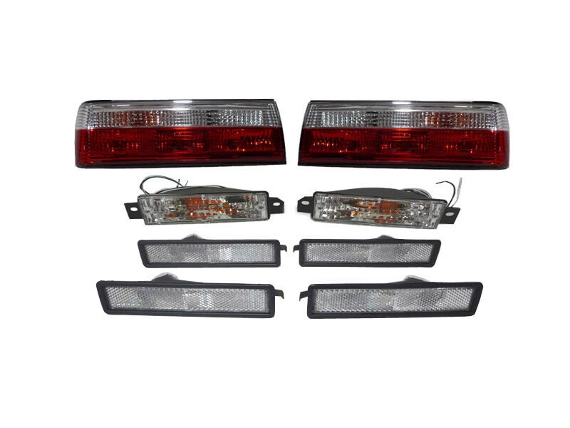 89 91 Bmw E30 Red Clear Euro Tail Lights Side Markers
