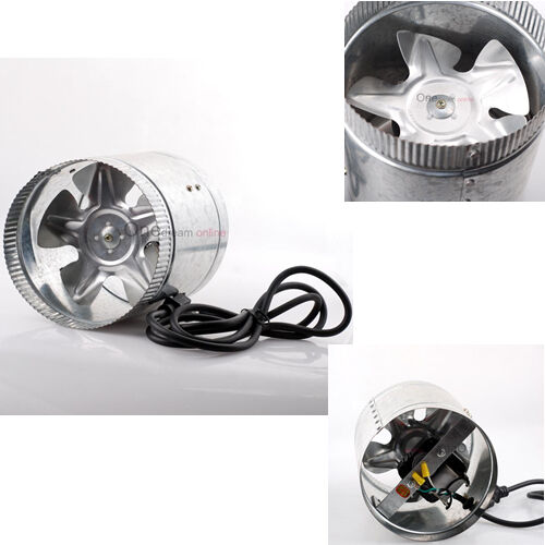 Air Duct Booster : Quot inline duct fan cfm booster exhaust blower air