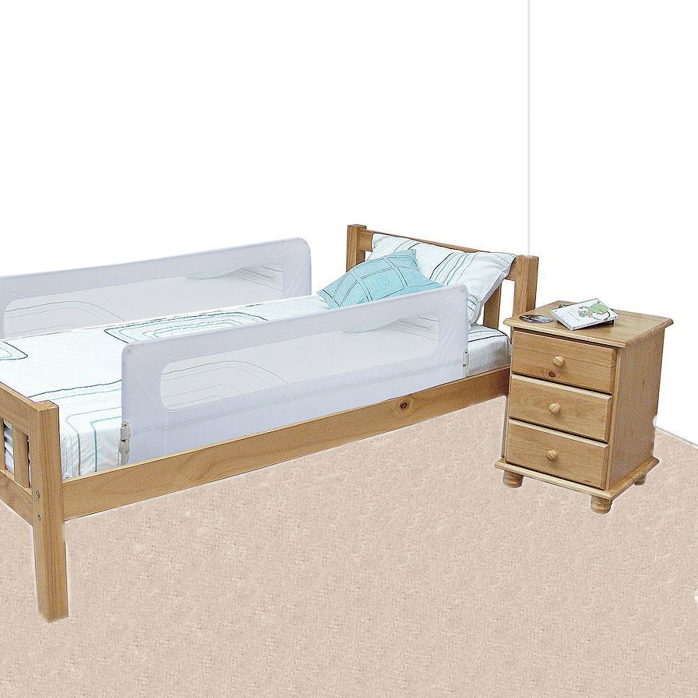 Details About Safetots Extra Wide Double Sided Mesh Kids Bed Rail Toddler Guard White