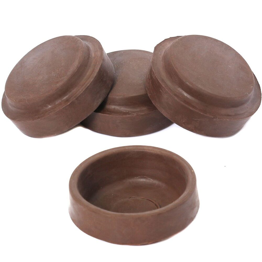 8 X Floor Protector Thick Rubber Castor Cups Furniture