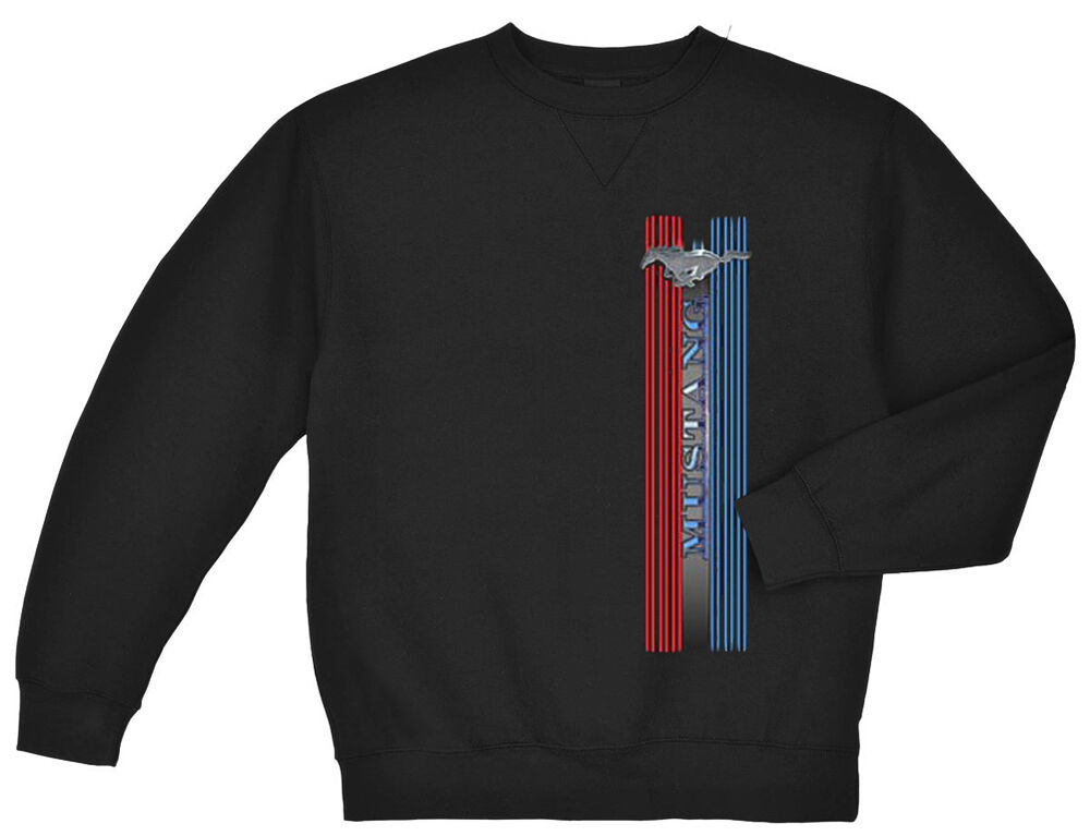 Ford Racing Apparel >> Ford Mustang sweatshirt Men's black ford mustang stripe ...