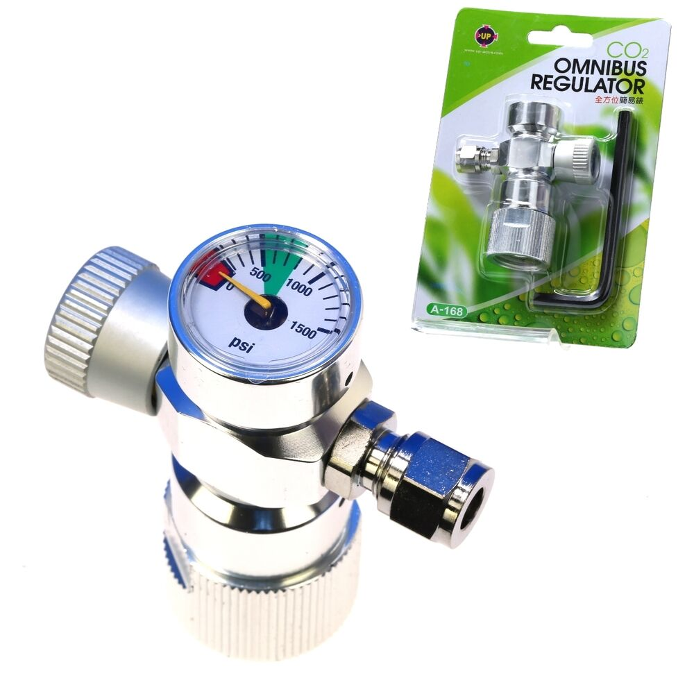 Co2 omnibus regulator aquarium adjustable for co2 tank for Co2 fish tank