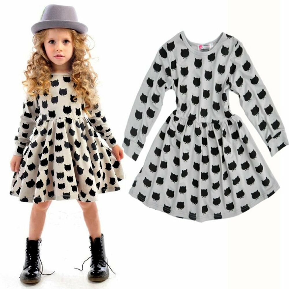 Toddler Baby Girls Kids Autumn Clothes Long Sleeve Party
