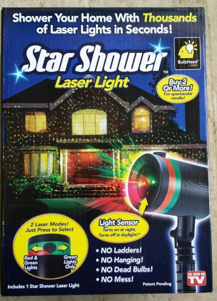 Star shower laser light projector light show for christmas 1 brand new ebay for Star shower motion m6