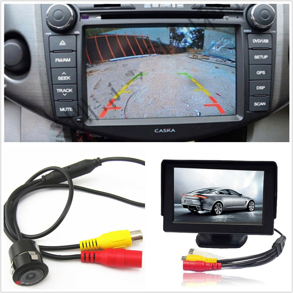 car suv backup reverse camera drilling accessories 4 3inch lcd screen ebay. Black Bedroom Furniture Sets. Home Design Ideas