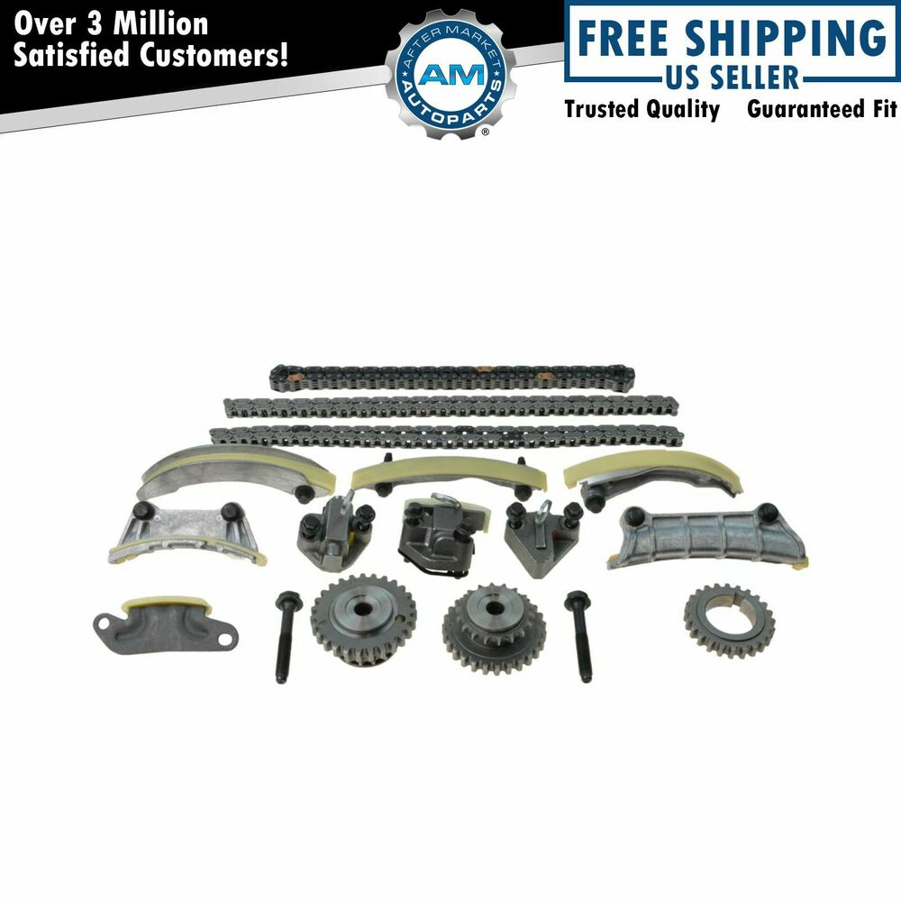 Engine Chain Tensioner : Engine timing chain tensioner idler guide rail kit set for