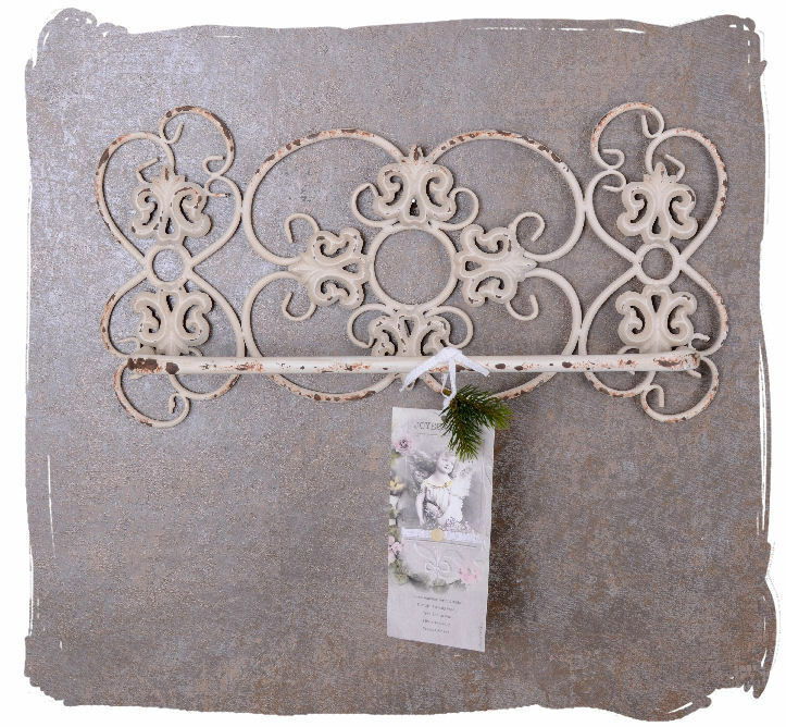 handtuchhalter shabby chic bad handtuchstange weiss wandhandtuchhalter ebay. Black Bedroom Furniture Sets. Home Design Ideas