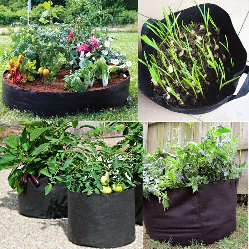 Container Planter: Fabric Grow Pots Breathable Bags Container Planters 1,2,3