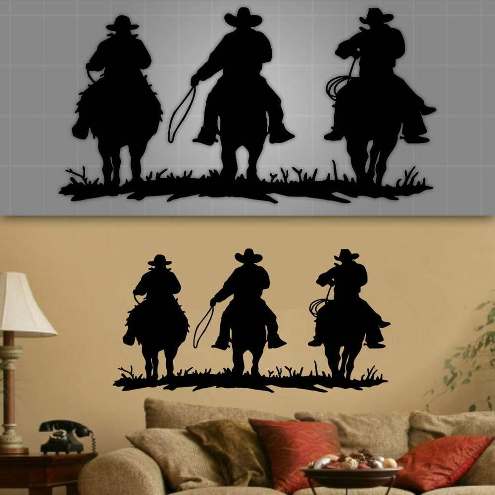 Old western wall decal cowboy wall decor cowboy wall for Cowboy wall mural