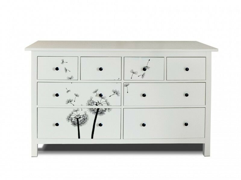 design m belfolie f r kommode ikea hemnes mit motiv pusteblume 2 kommodensticker ebay. Black Bedroom Furniture Sets. Home Design Ideas