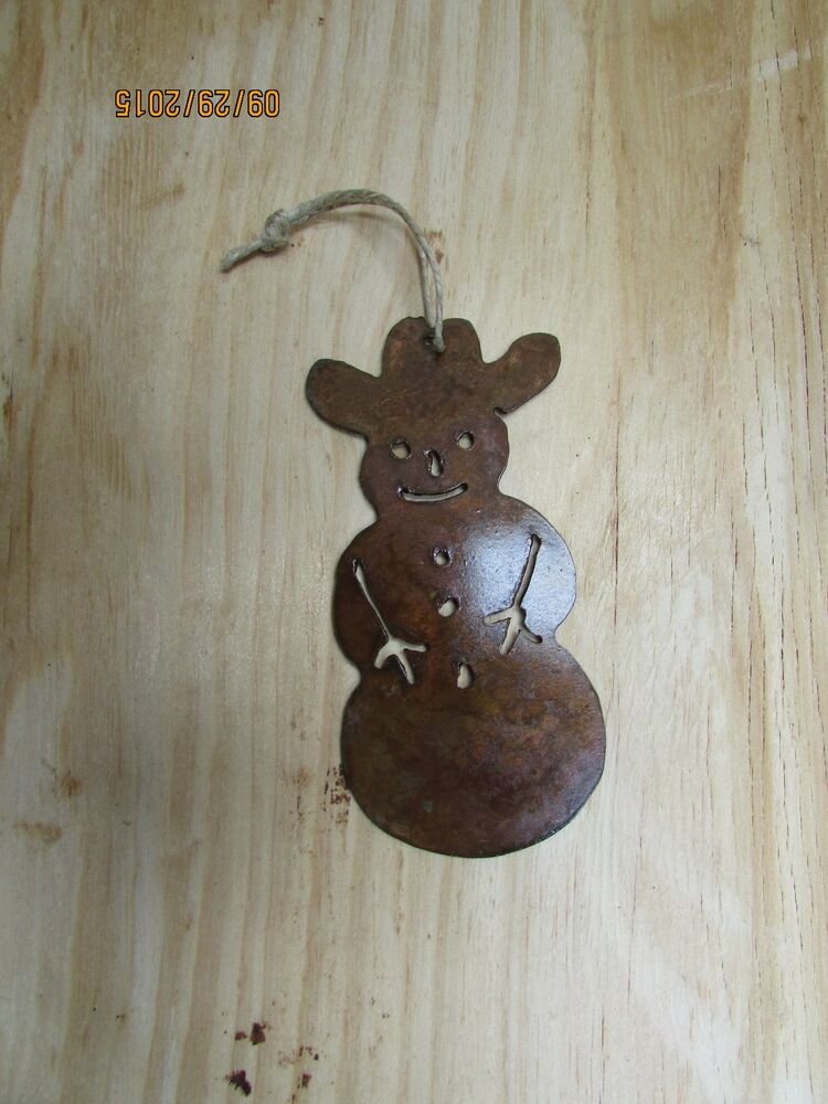 Western Rustic Christmas Ornament Snowman Holiday Home