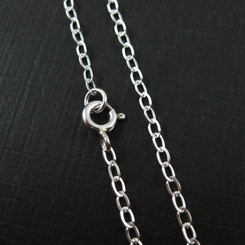 Sterling Silver Necklace Chain 3 By 3 5 Mm Flat Oval