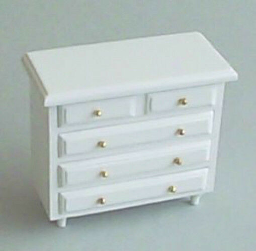 dolls house furniture white chest of drawers 12th scale ebay