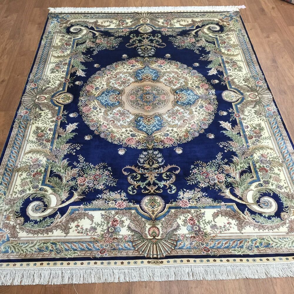 5x7 Traditional Persian French Style Handmade Silk Carpet