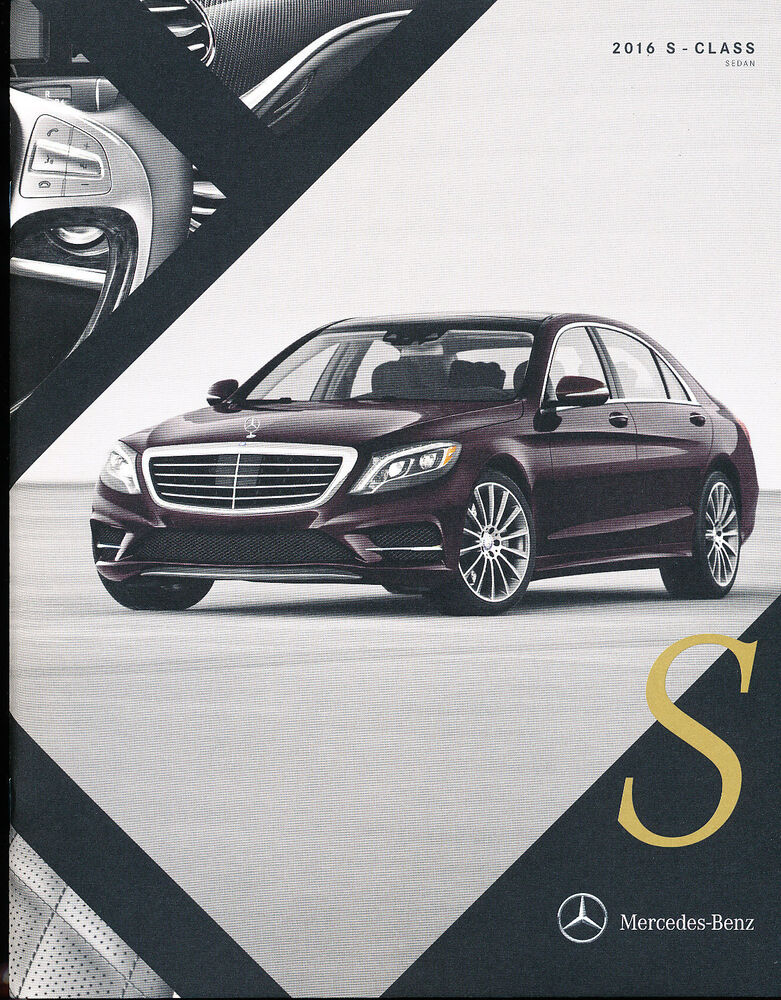 2016 mercedes benz s class 30 page car brochure catalog for Mercedes benz s 600 amg