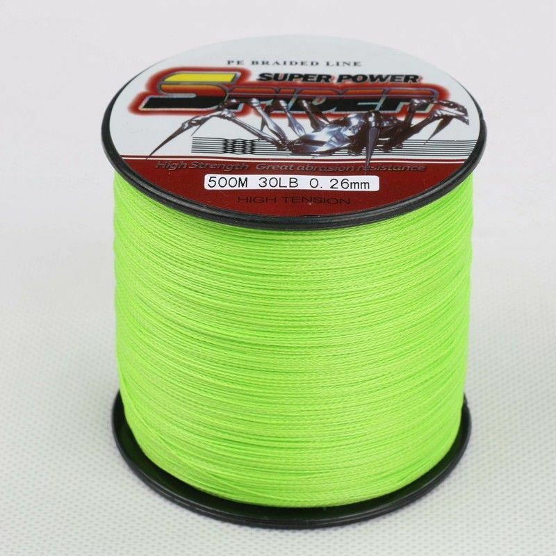 Spider 100 2000m 6 300lb fluorescent green 100 pe dyneema for Fluorescent fishing line