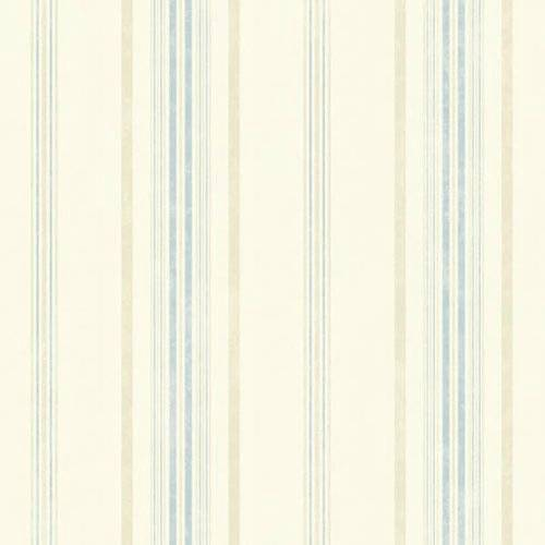 Wallpaper designer light blue and cream faux fabric stripe - Light blue linen wallpaper ...