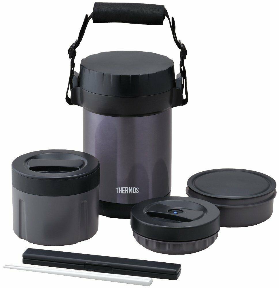 thermos stainless steel thermal insulated lunch box bento food container large ebay. Black Bedroom Furniture Sets. Home Design Ideas