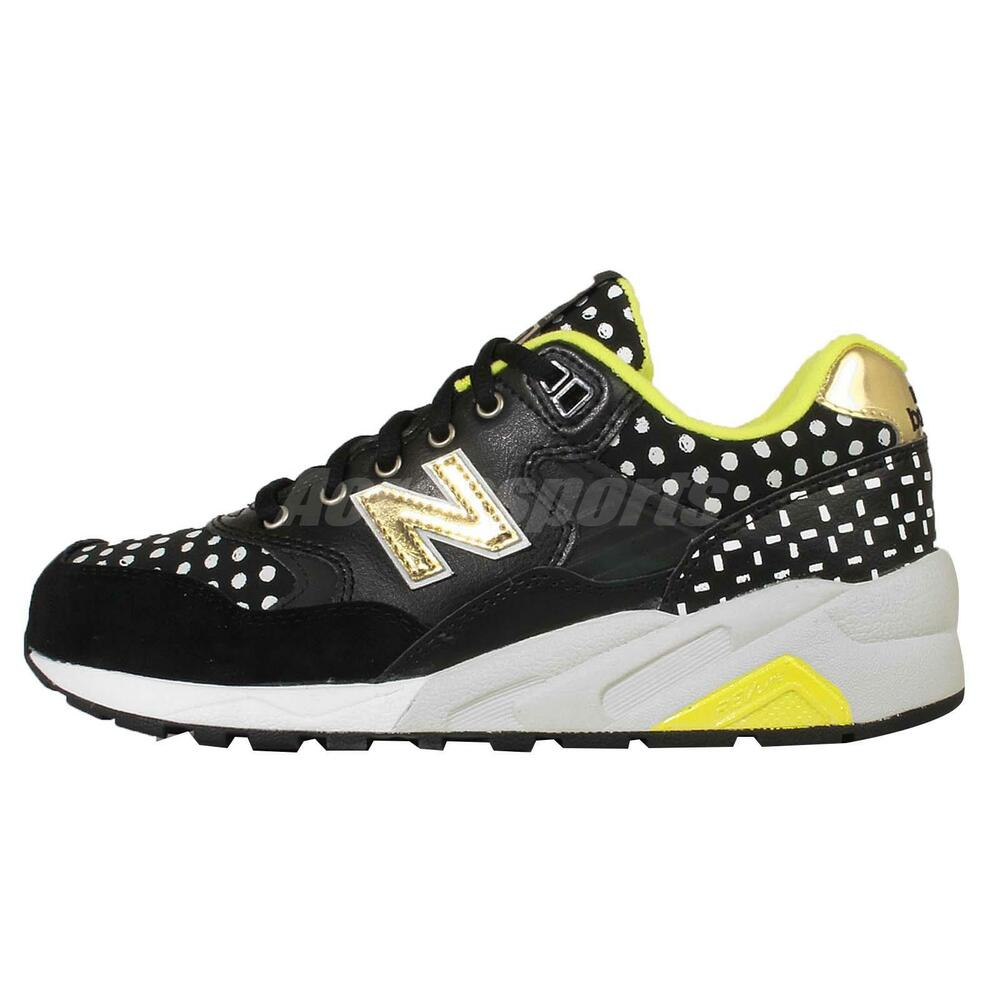 new balance wrt580mcb black gold polka dot womens retro
