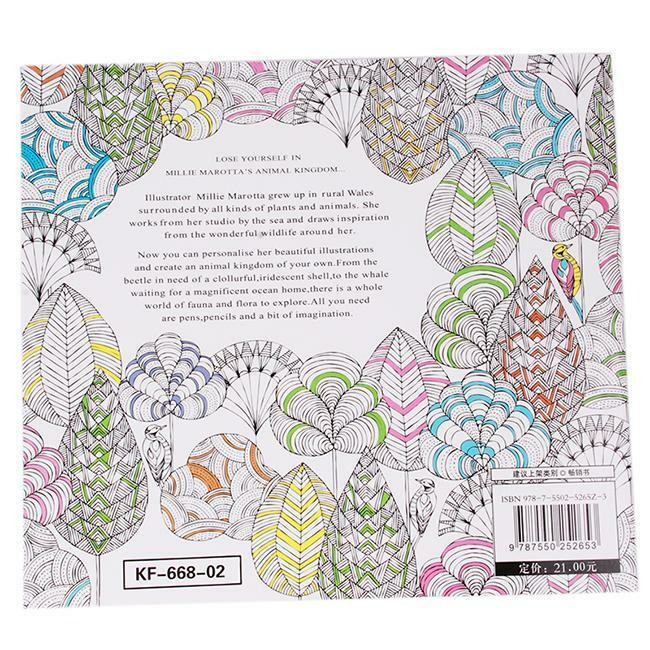 Chinese Secret Garden Animal Kingdom Child Adult Coloring