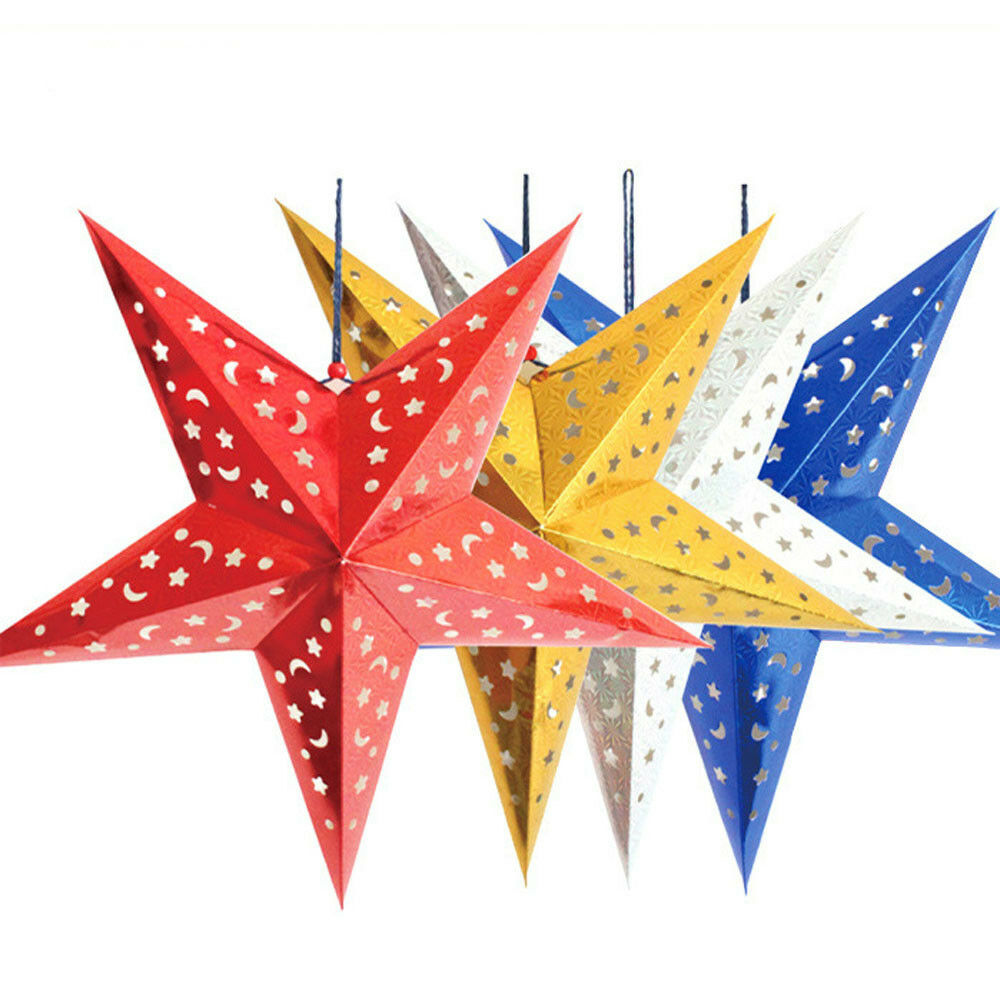 Star For A Christmas Tree: 2015 Xmas String Hanging Star Christmas Party Decoration