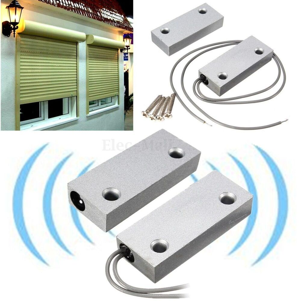 metal door alarm magnetic contact switch roller shutter