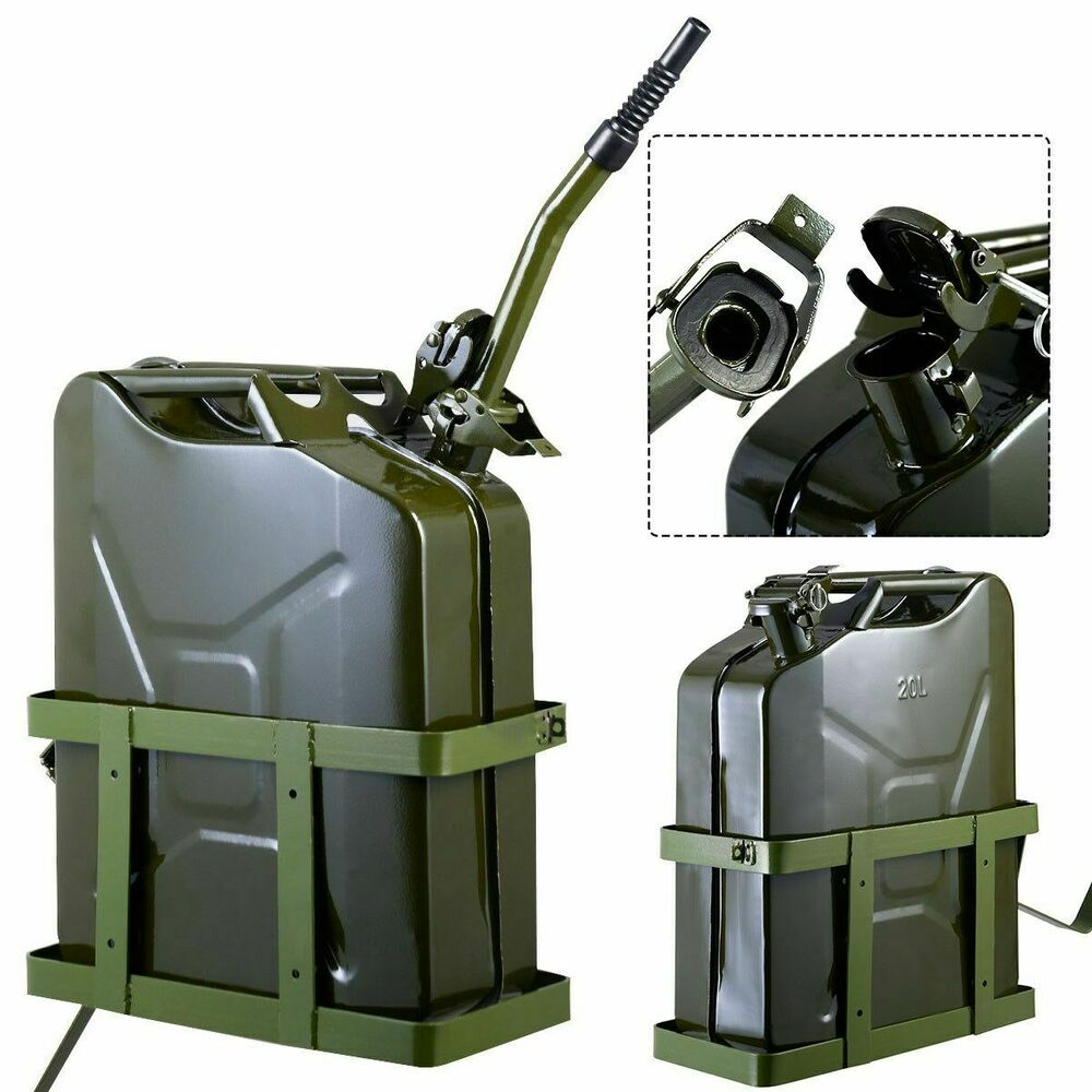 goplus 5 gallon 20l gas jerry can fuel steel tank military. Black Bedroom Furniture Sets. Home Design Ideas