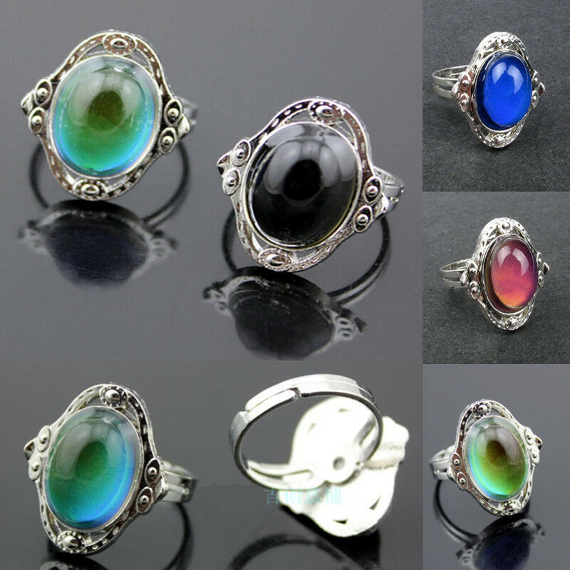 Vintage Mood Ring Changing Color Fashion Temperature