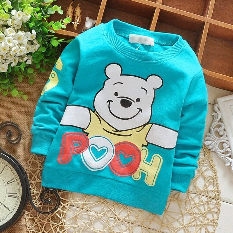 Baby Infant Boy tshirts Tracksuit Children Clothes Winnie