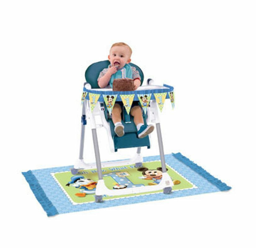 Disney Baby Mickey Mouse HIGH CHAIR DECORATING KIT 1st