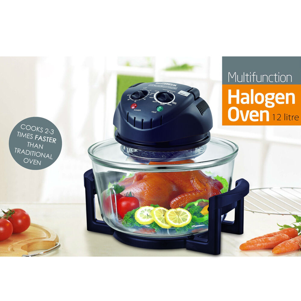 1300W Halogen Convection Countertop Oven Cooker with Frying Pan ...