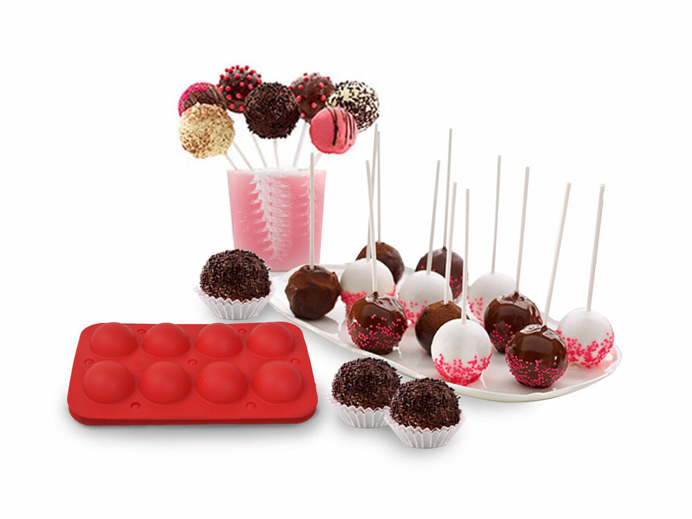 8 Cup Tasty Top Cake Pops Silicone Baking Pop Guide Flex